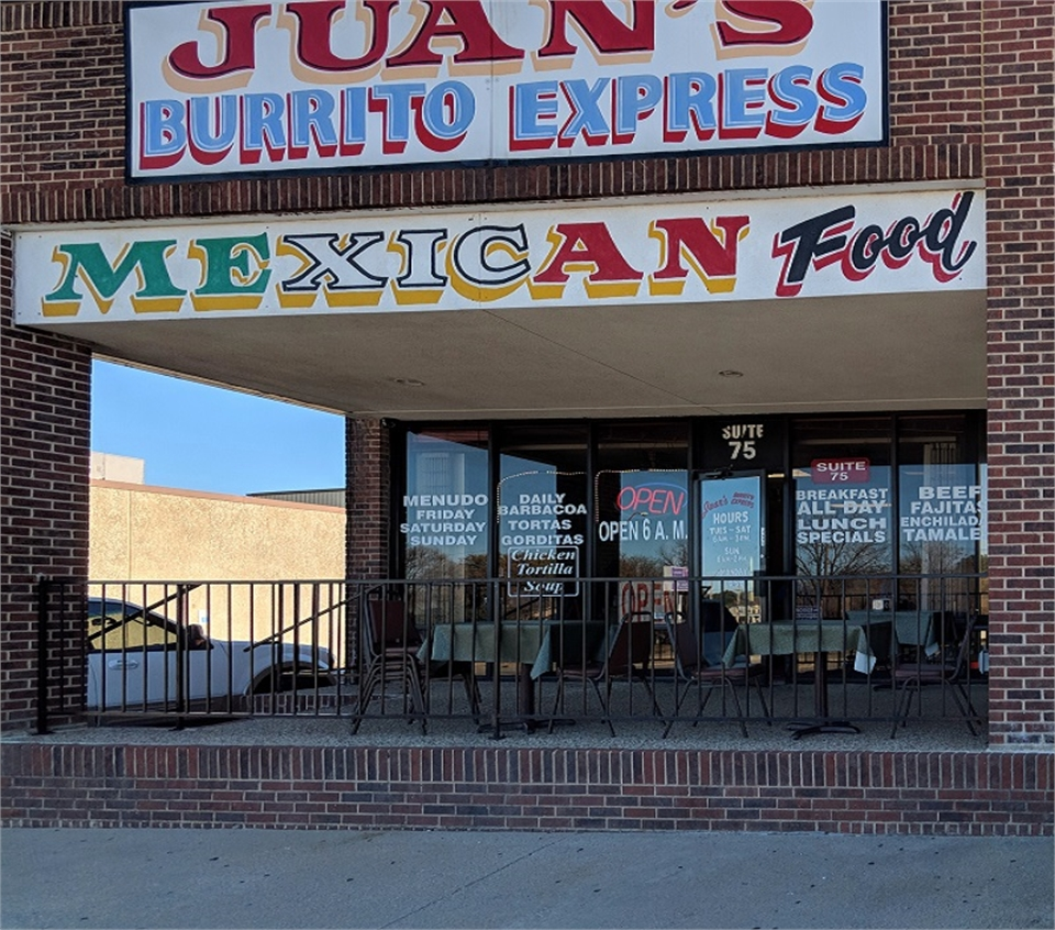 Juan's Burrito Express few blocks to the north of Sycamore Smiles Pediatric Dentistry