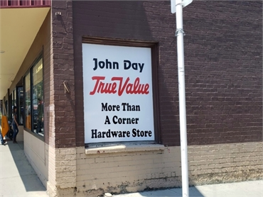 John Day True Value 3 minutes drive to the east of John Day dentist John Day Smiles