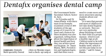 Dentafix School Health progm