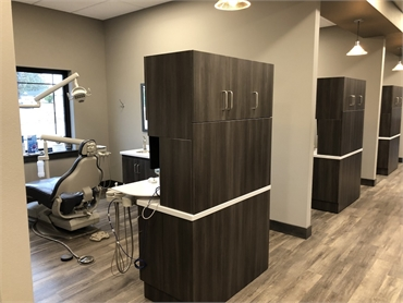 Hallway and operatories at dental crown expert Medical Lake Best Impression Dental Dr. Alicia G. Bur