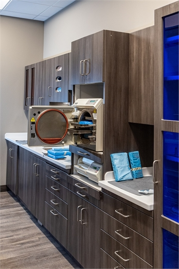 Sterilization area at Best Impression Dental Dr. Alicia G. Burton DDS