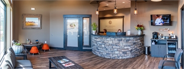 Front desk panoramic view at dental implant expert in Medical Lake Best Impression Dental Dr. Alicia