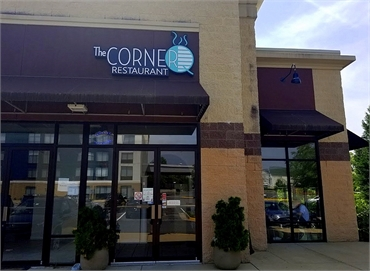 The Corner Q restaurant 7 minutes drive to the south of Lorton dentist Lorton Town Dental