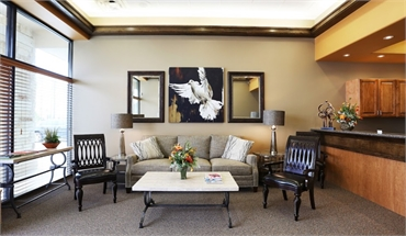 Reception and waiting area at Sealy Dental Center in Katy