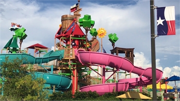Typhoon Texas Waterpark  at 14 minutes drive to the northeast of Sealy Dental Center in Katy