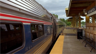 Amtrak Vermonter departing from Northampton MA train station at 3.6 miles from Northampton dentist R