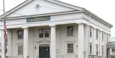 Hadley Town Hall at a few paces to the west of Hadley dentist River Valley Dental