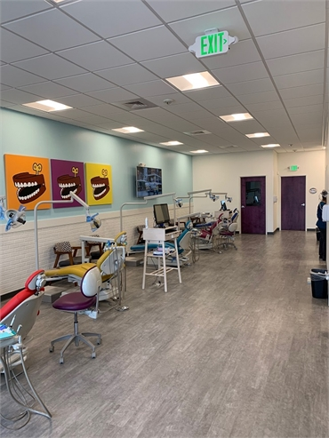 Open bay north view at Comfort Dental Kids - Lakewood