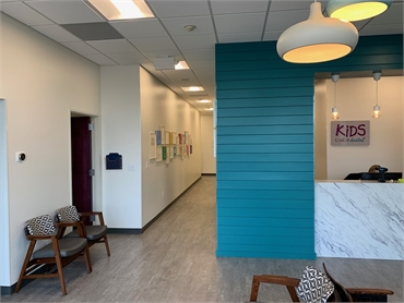 Front hallway at pediatric dentist Comfort Dental Kids - Lakewood