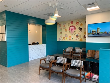 Front lobby at Comfort Dental Kids - Lakewood