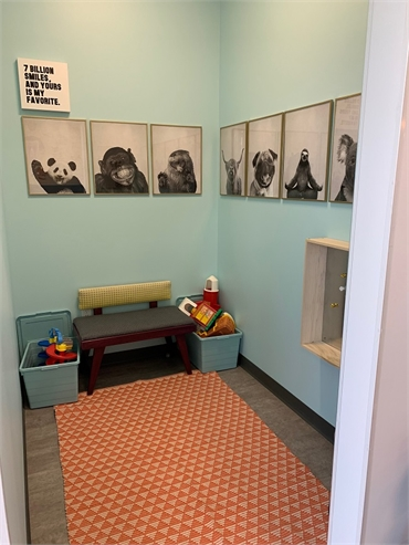 Kids corner at Comfort Dental Kids - Lakewood