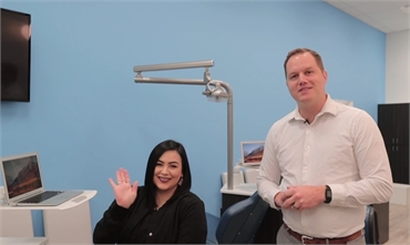 Dr. Keith Anderson and orthodontic assistant Ciara at Anderson Orthodontics Burleson TX