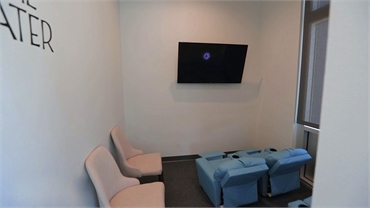 Movie theater at Anderson Orthodontics Burleson TX