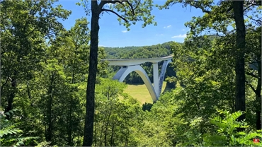 Natchez Trace Parkway Bridge at 26 minutes to the west of Dental Bliss Franklin