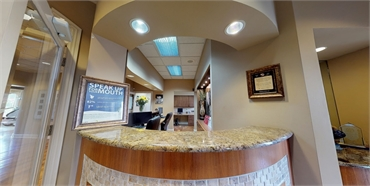 Checkout counter at Old Hickory dentist Denal Bliss Hermitage