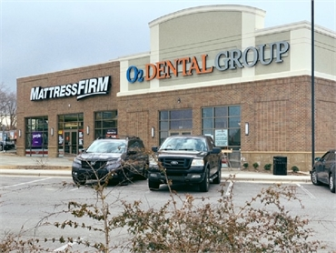 Ample parking space at O2 Dental Group of Durham NC
