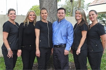 Dental team with Palm Beach Gardens FL dentist Andrew Rudnick DMD