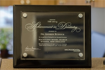 Dental Achievement Award by Palm Beach Gardens FL  Dentist Andrew Rudnick DMD