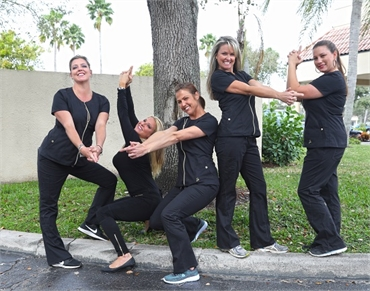 Silly office staff of Palm Beach Gardens FL dentist Andrew Rudnick DMD