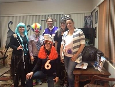 Longmont CO dentist Artistic Smiles team celebrating Halloween