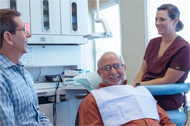 Waldorf dentist The Silberman Dental Group dentist working with patient