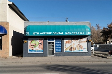 Front View of Calgary dentist 16th Avenue Dental