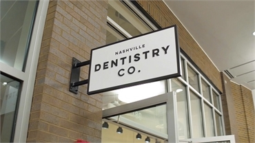 Entrance to the office of Brentwood TN dentist Nashville Dentistry Co.