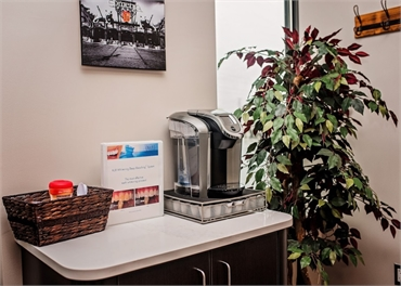 Refreshment area at Witer Family Dentistry Washington MI