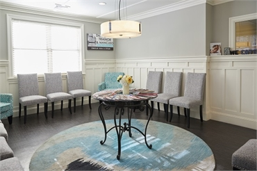 Cosmetic dentistry Waiting room at Dental Health Care of Woburn P.C.