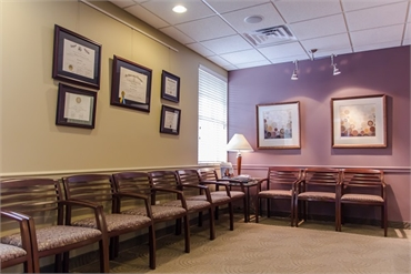 Waiting area at Chatham Orthodontics NJ
