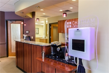 Reception desk at Chatham Orthodontics NJ