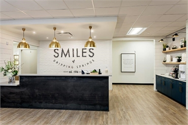 Reception area at Dripping Springs orthodontist and pediatric dentist Smiles of Dripping Springs