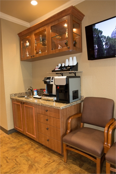 Advanced Dentistry South Florida patient refreshment bar