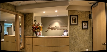 Front desk at Lance Timmerman's office in Tukwila WA