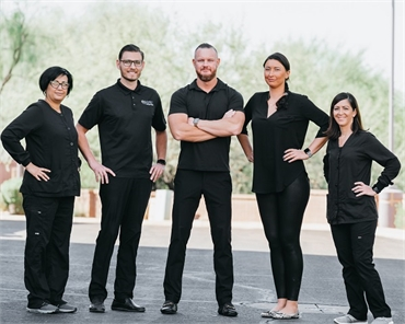 Anthem dentist Dr. Nicholas Pile and his staff at Element Dental by Nicholas Pile  DMD