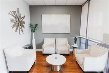 Waiting area at Element Dental by Nicholas Pile DMD