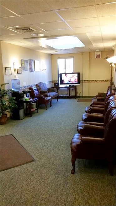 Waiting lounge at implant dentistry A Caring Dental Group in Cleveland