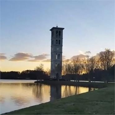 Furman University Bell Tower 17 minutes drive the north of Greenville dentist Greenville Family Smil