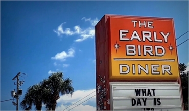 Early Bird Diner at 4 minutes drive to the east of Charleston Family Dentistry