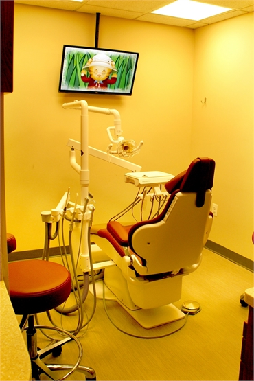 Enjoy a good movie during the dental procedure