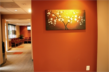 Art work at our implant dentistry in McLean
